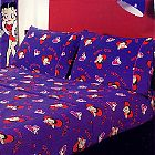Betty Boop Doggy in Window 4 Piece Double Bed Fitted Sheet Set