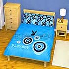 Playboy Blue KING Size Quilt/Doona Cover Set